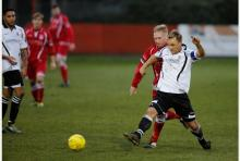Aaron Lacy in action for Faversham